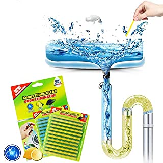 Drain Cleaner Sticks Sink Deodorizer Clog Remover Organic Enzyme Drain Cleaner Septic Tank Safe Little Cleaner Expert for Kitchen Bathroom Toilet Showers 24PCS