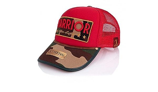 Xtress Exclusive Gorra roja y visera de camuflaje para hombre y mujer.: Amazon.es: Ropa y accesorios