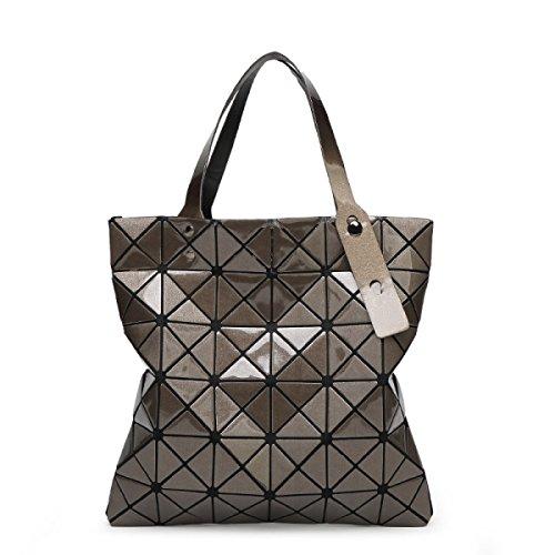 Shoulder Géométrique brown Portable Big Cube Forme Bag Diamant En Bag Rubik's De Forfait B1xwTq0dd