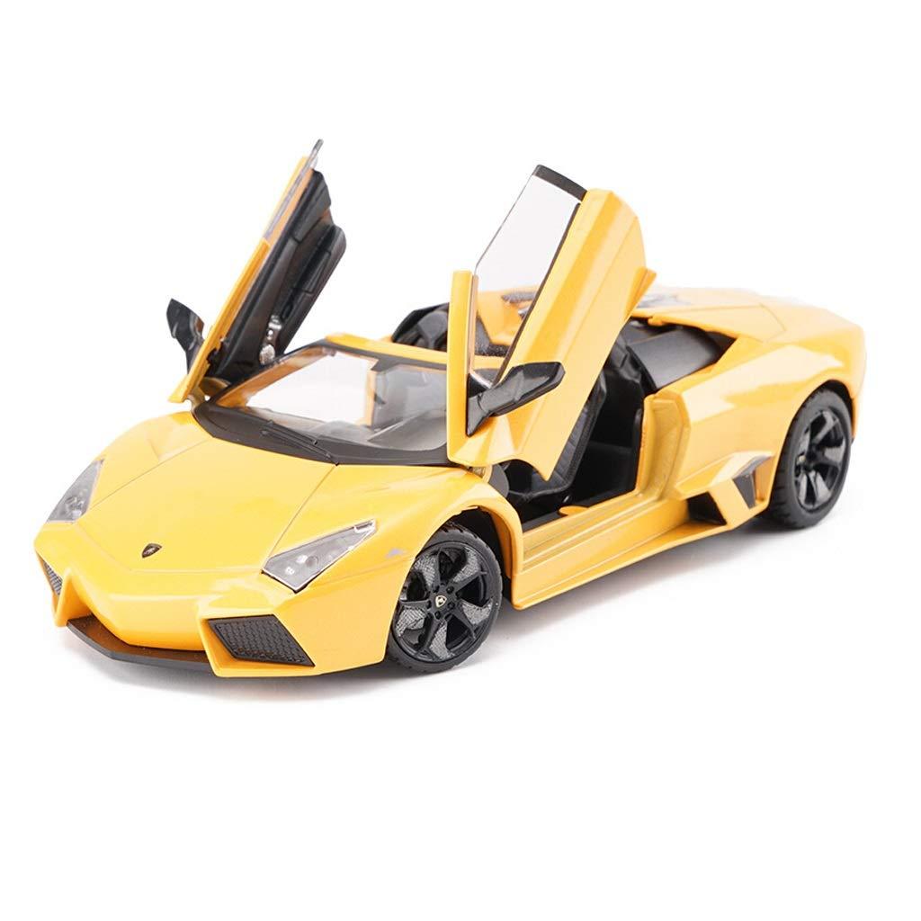 Auto Modello Lamborghini Reventon Sports Car Model Modello in Scala 1 24 Die-Casting Model Toy Modello Collezione Ornamenti Regali ( Colore   Giallo )