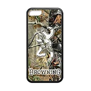 Canting_good Browning Cutter Logo Real Tree Custom Case Shell Cover for Iphone 5c TPU (Laser Technology)