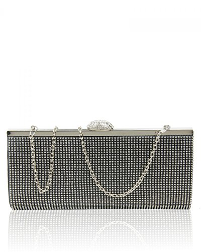 BAG Party Black Wedding Womens Ladies Sparkly Prom Evening Diamante London Clutch Craze NEW Bridal 1FwxKqRf7I