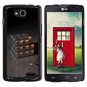 Paccase / Hard Protective Case Cover for - Metal Cube - LG OPTIMUS L90 / D415