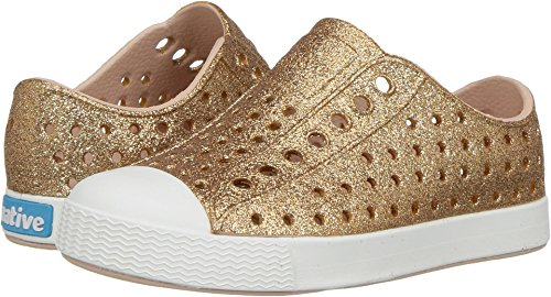 Native Kids Shoes Baby Girl's Jefferson Bling Glitter (Toddler/Little Kid) Rose Gold Bling 11 M US Little Kid