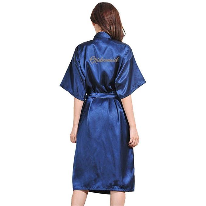 GODGETS Kimono Batas Largas Mujer Lenceria de Aspecto Brillante: Amazon.es: Ropa y accesorios