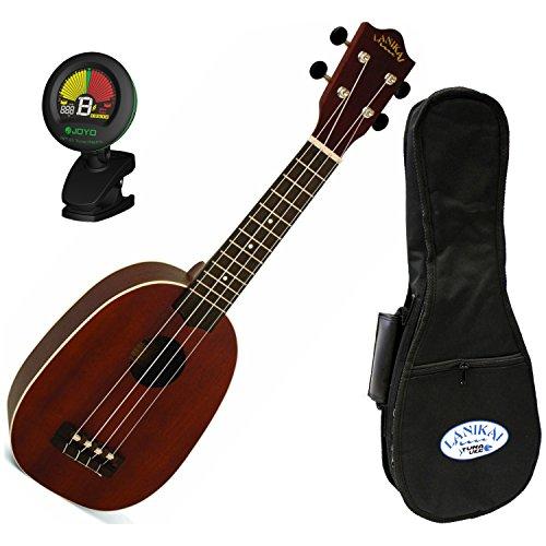 lanikai-lutu-21p-mahogany-soprano-pineapple-ukulele-in-natural-with-co-ut-clip-on-electronic-tuner-a