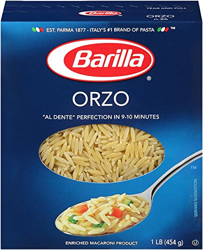 Barilla Pasta, Orzo, 16 Ounce (Pack of 16)