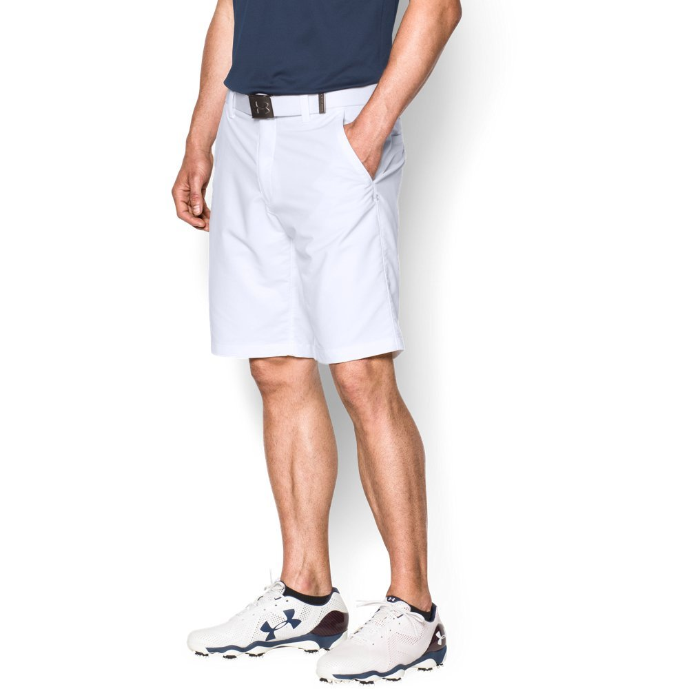Under Armour Men's Match Play Shorts, White (100)/White, 38 by Under Armour