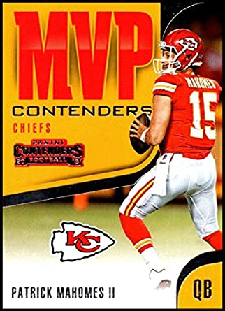 5523e6f30 2018 Contenders MVP Contenders Football  MVP-19 Patrick Mahomes II Kansas  City Chiefs Official