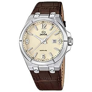 Jaguar j666/1 - Reloj de caballero, caja acero, cristal safiro, correa en piel: Amazon.es: Relojes