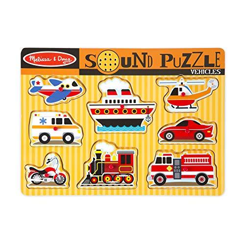 Melissa & Doug Vehicles Sound Puzzle (8 Pieces) (Puzzles With Sound)