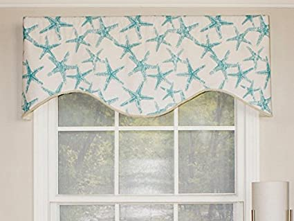 cornice window valance crown moulding rlf home beach star cornice valance window dressings turquoise amazoncom dressings
