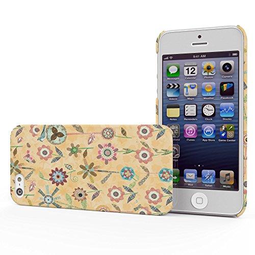 Koveru Back Cover Case for Apple iPhone 5S - Raining Flowers Butter