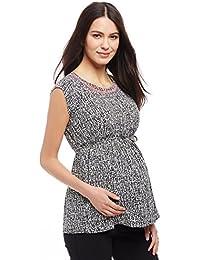 Motherhood Back Zip Peplum Maternity Top