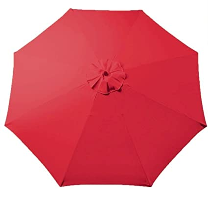 Tokept Umbrella Canopy for 9ft 8 Ribs Red (Canopy Only)