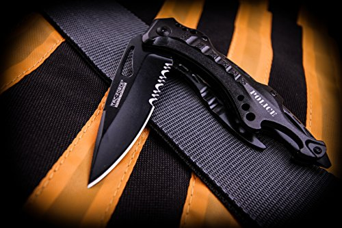 TAC Force TF-705 Series Assisted Opening Tactical Folding Knife, Half-Serrated Blade,  4-1/2-Inch Closed