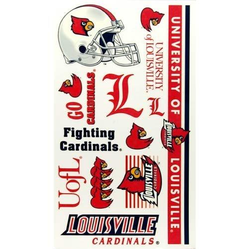 - NCAA Louisville Cardinals Temporary Tattoos-