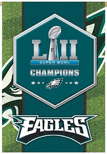Philadelphia Eagles Champions EG 2-sided GARDEN Flag Banner Super Bowl Football (Garden Philadelphia Flag Eagles)