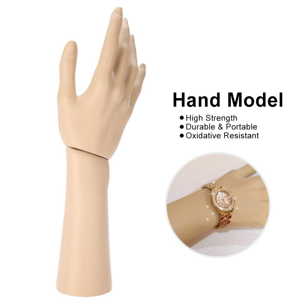 10 Zoll rechte Hand Wooden Hand Model Moveable Jointed Articulated Flexible Fingers Hand Mannequin for Sketching Drawing Home Office Desk Kids Children Toys Gift