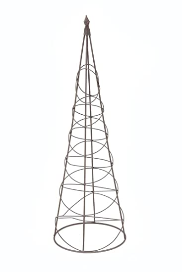 Neu Rankgitter Rankhilfe Kegel mittel rund Edelrost Höhe 90 cm: Amazon  TF93