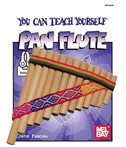 Beginners Set Bamboo Tunable Pan Flute + Guide Book & Online Audio/Video and Tuning Stick