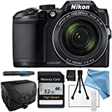 Nikon COOLPIX B500 Black, 32GB SD Memory Card, Camera Case and More