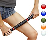Muscle Roller Massage Stick for Runners and Athletes, Instant Myofascial Release, Pain Relief, Trigger points, Leg, Sore, Cramping, Injury Prevention (Red)
