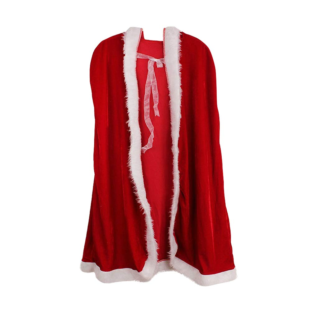 Christmas Halloween Hooded Cloak - Thick Red King Cloaks for Kids Adult Zhhlinyuan