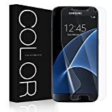 Galaxy S7 Screen Protector [Not Glass], G-Color [Full Coverage][Case Friendly][Error Proof][Bubble-Free][Anti-Scratch] HD Clear Screen Protector for Samsung Galaxy S7