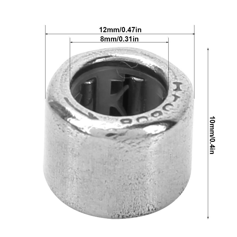HF0812 10Pcs 8mm//10mm I.D 12mm//16mm O.D Drawn Cup Needle Roller Bearing Open End Needle roller bearing
