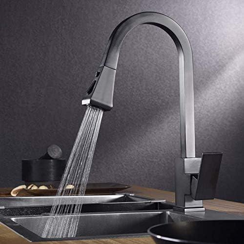 キッチンには、2つのジェットBrausキッチンミキサー蛇口ミキサータップ金の回転の360°の角度をスプレー引き出しで蛇口ブラッシュ,黒2