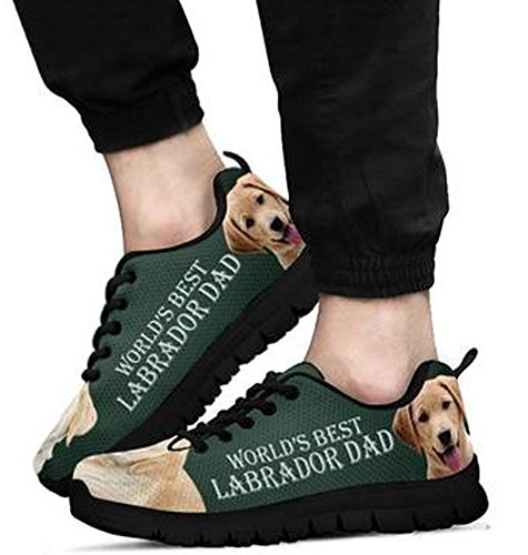 Labrador Sneakers 12 Brand Print Amazing Black Retriever Men's Casual gCqwSxqT