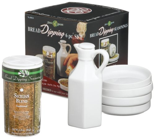 Tuscany Italian Gourmet Food (Dean Jacobs Boxed 6-piece Bread Dipping Set, 4.0-Ounce)