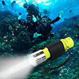 HECLOUD 2 Pack LED XM-T6 Professional Diving