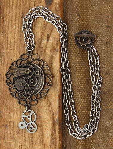 elope Antique Butterfly Gear Steampunk Necklace 3