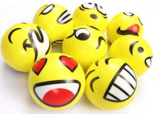 "51pKVVxPBVL - 3"" Party Pack Emoji Stress Balls Stress Reliver Party Favors, Toy Balls, Party Toys (12 Pack)"