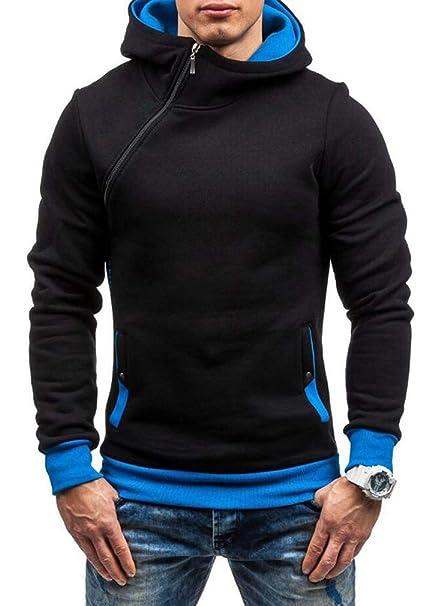 Giacca casual da uomo manica lunga con cappuccio collo alto