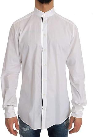 Dolce & Gabbana - Camisa de algodón, Color Blanco y Dorado - Morado - 50: Amazon.es: Ropa y accesorios