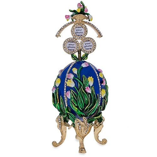 (BestPysanky 1898 Lilies of The Valley Royal Russian Egg 4.75 Inches)