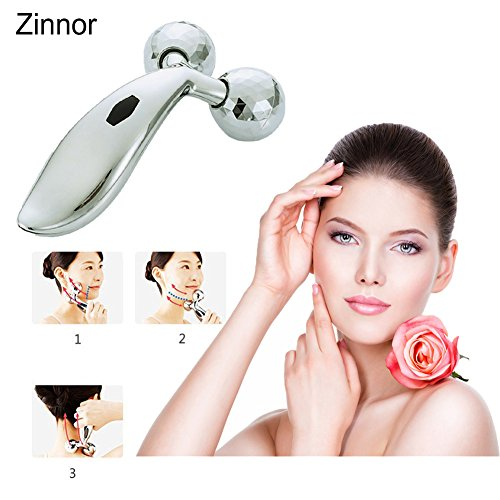 Zinnor 3D Roller Massager for V Face and Body Reface Massager Roller Y-Shape Sliver Face Mask Body Spa Face Lifting Wrinkle Remover (Type - Shape Face Types