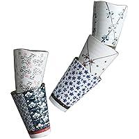 Japanese Tea Cups Set of 5, Lt.Blue, Porcelain Coffee Mugs Set, Tea Set, Chinese Tea Cups, Green Tea Cups Japanese…