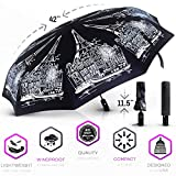 Windproof Travel Umbrella – Compact Folding Auto