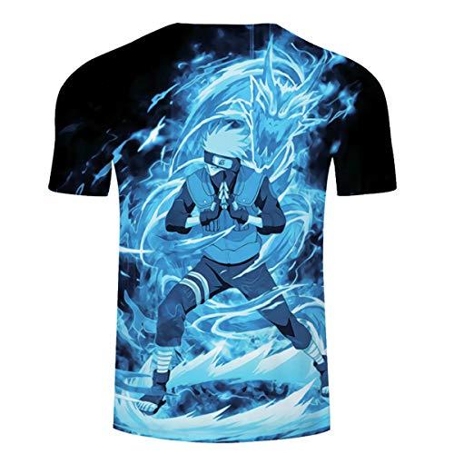CHENMA Men Naruto 3D Print Short Sleeve Pullover Regular Fit T-Shirt