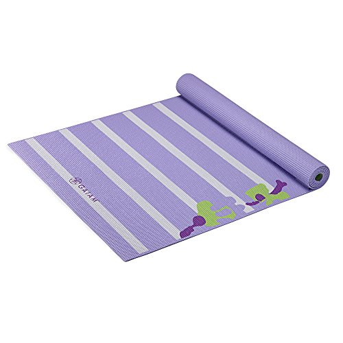 Gaiam Kids Yoga Mat, Purple Flowers, 3mm