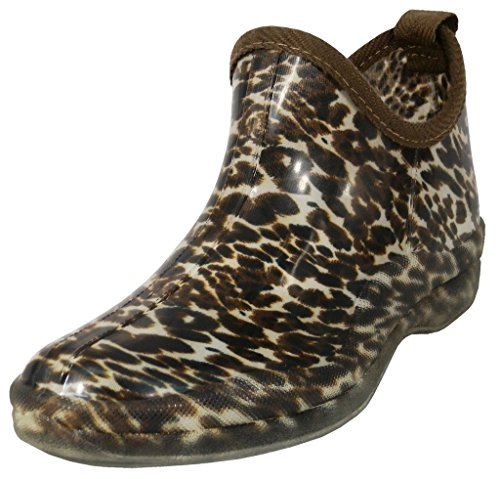 High Jewel Gardenboot Natural Hazel's Women's Rainboot Leopard Insole Comfortable amp; Ankle With Rubber SdqFtxF