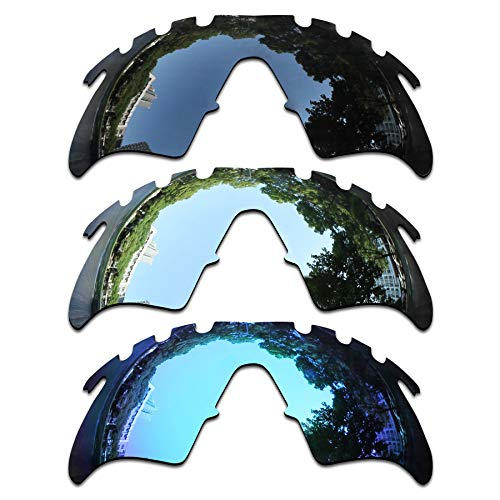 ToughAsNails 3 Pair Polarized Replacement Lenses for Oakley M Frame Heater Vented Pack-BSI2 -