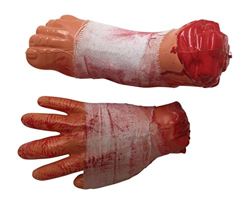 GORY SEVERED BLOODY CHOPPED CUT OFF HAND AND LEG HALLOWEEN PARTY PROP DECOR ()