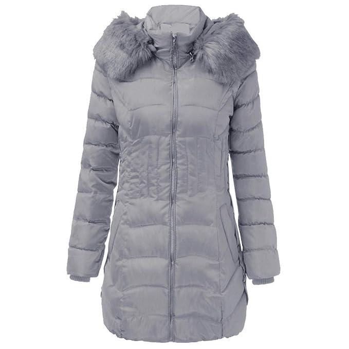 super popular cfc9a 3e17e NINGSANJIN Damen Winterjacke Wintermantel Lange Mode Winter ...