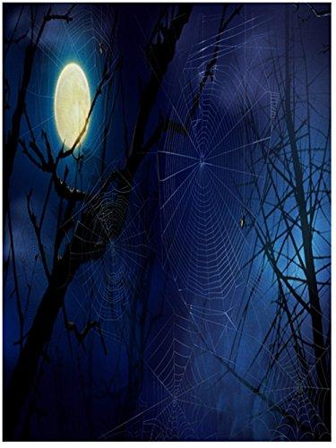 GOPPUI Spide Photography Backdrop Moon 5x7ft Vinyl Background studio prop -