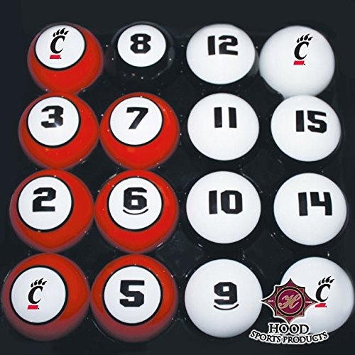 HOOD SPORTS PRODUCTS 11950-CIN CINCINNATI BILLIARD BALL (Cincinnati Billiard Ball Set)